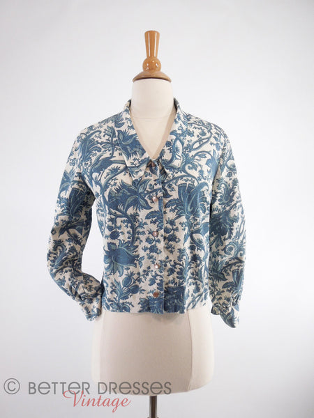 50s/60s Bird Toile Jacket - front