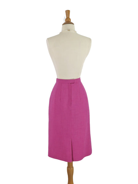 50s/60s Slim Pink Skirt - back view