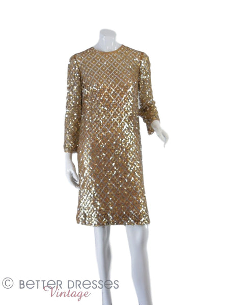 60s Malcolm Starr Sequin Dress