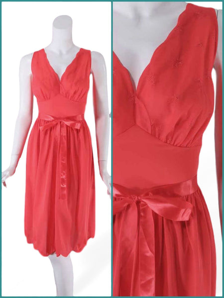 50s Vanity Fair Red Slip or Nightie