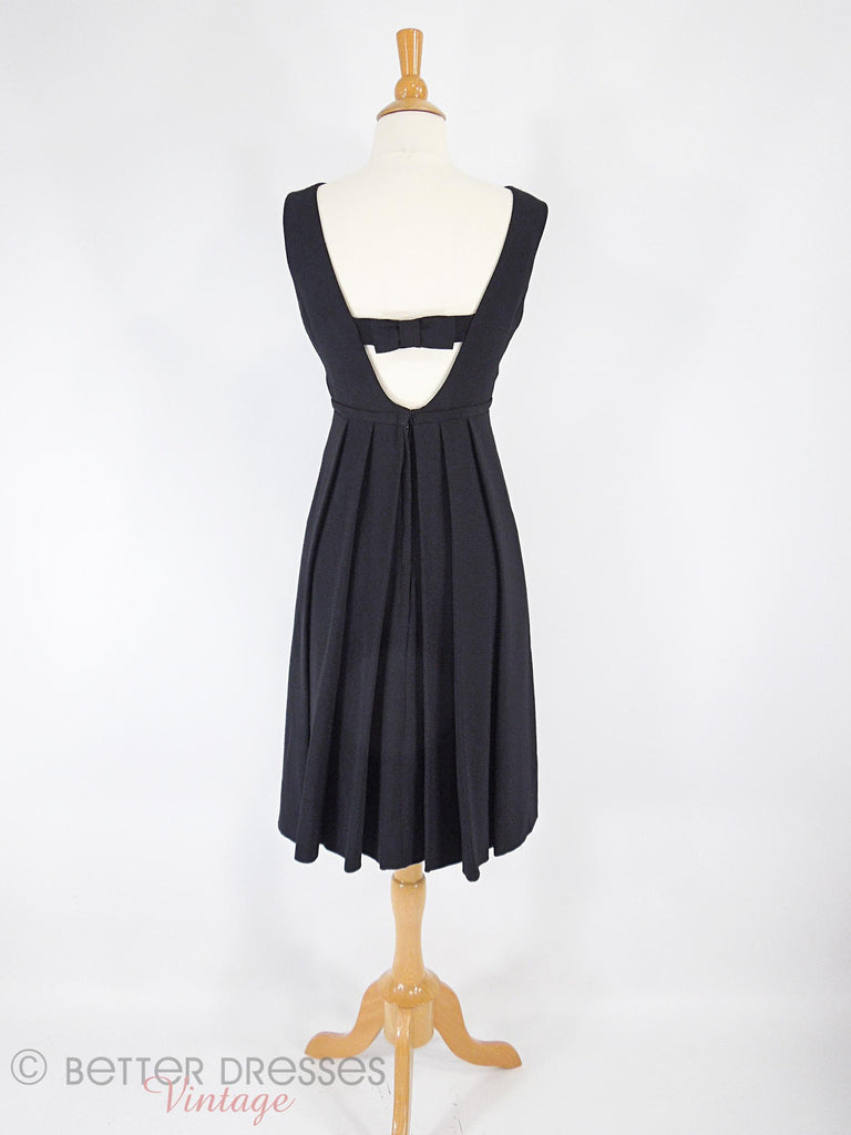 60s LBD With Low Bow Back - back full view