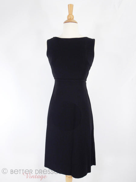60s LBD With Low Bow Back - front view