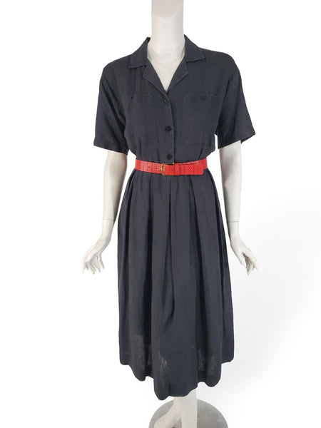 80s Brooks Brothers Linen Dress