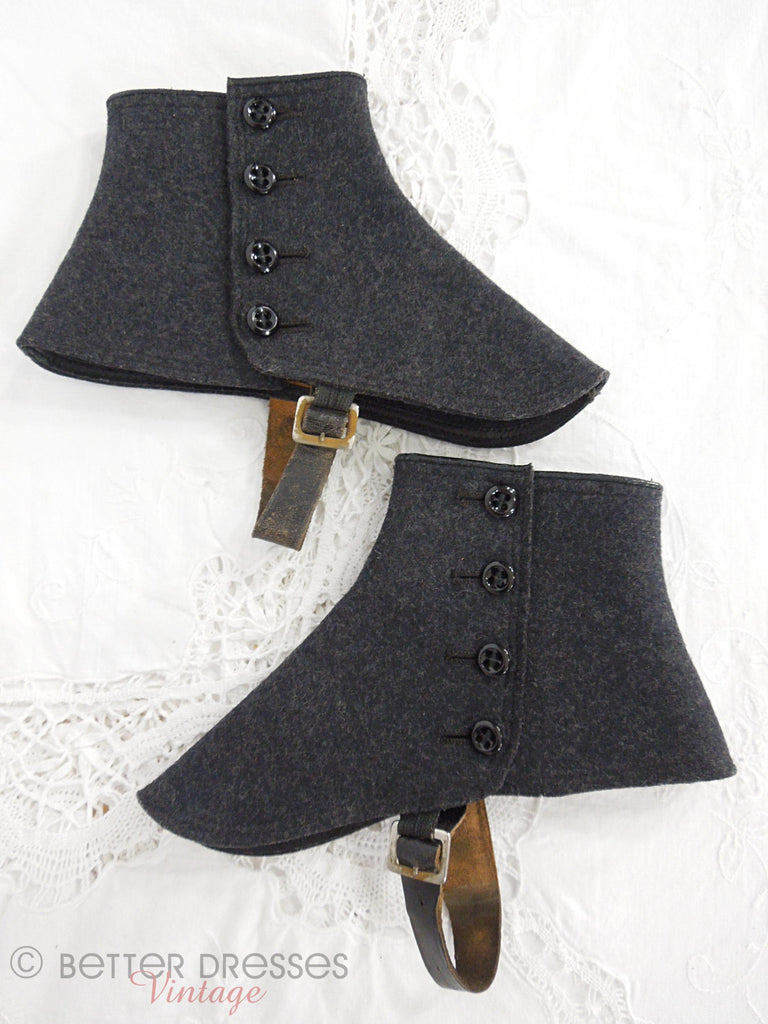 Antique Wool Spats