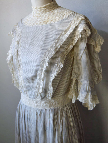 Edwardian Lawn Dress - close angle view