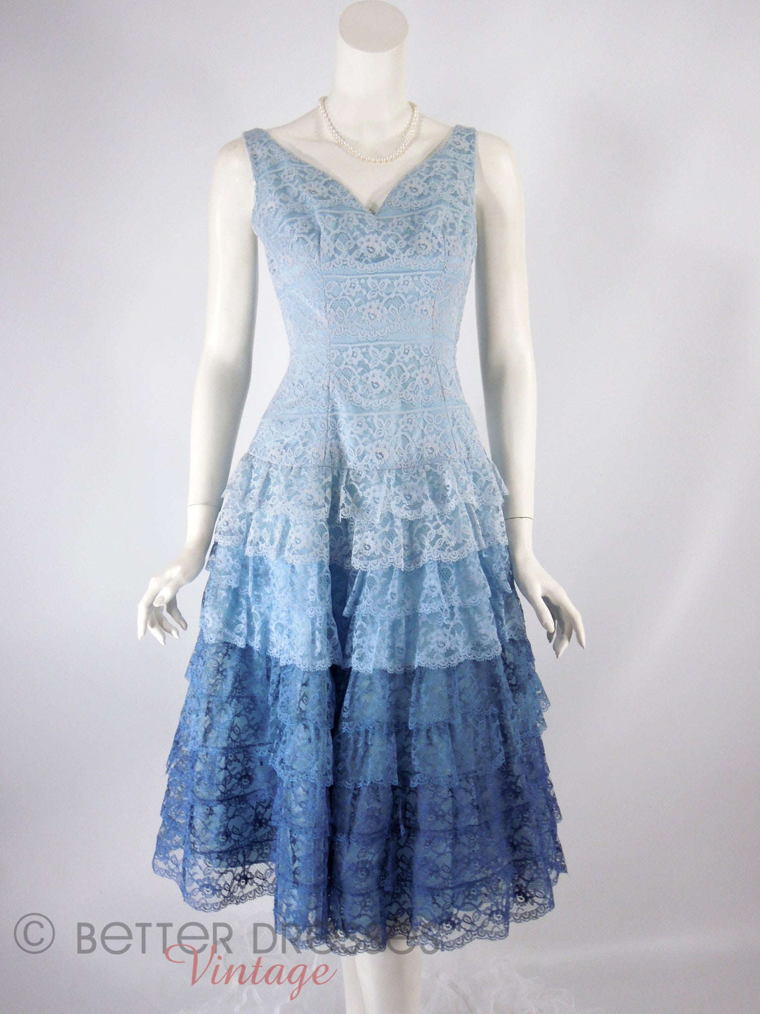 Old Fashioned Blue Lace Party Dress Picture Collection - All Wedding ...
