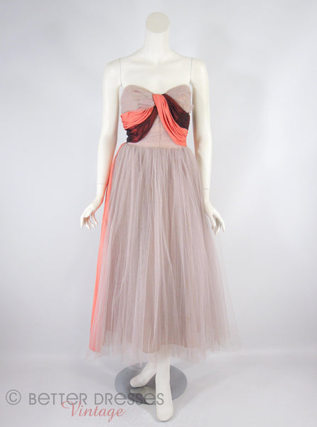 40s/50s Ball Gown - full view
