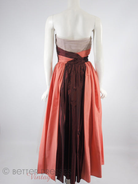 40s/50s Ball Gown - back view