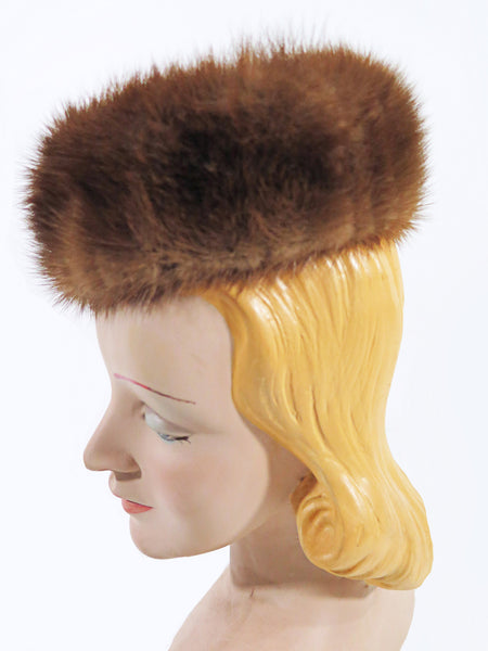 Mink Fur Pillbox Hat