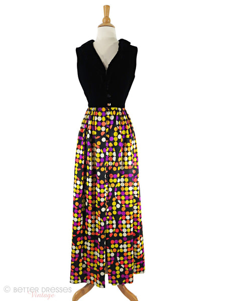 60s Op Art Maxi Dress