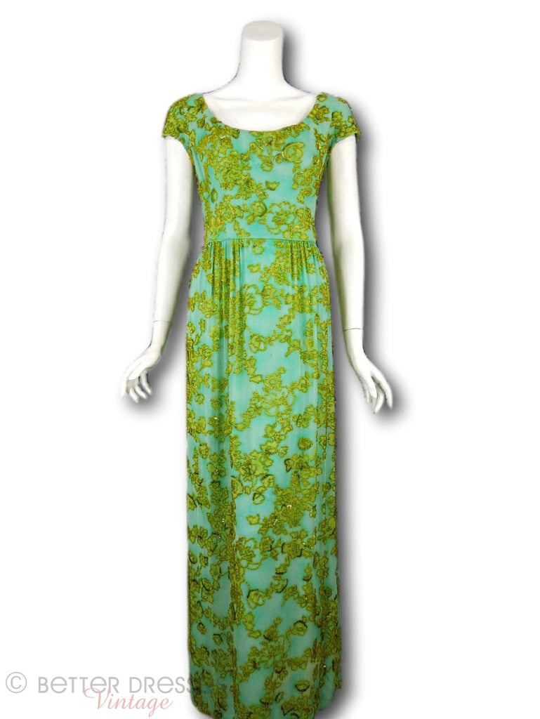 60s Malcolm Starr Beaded Gown