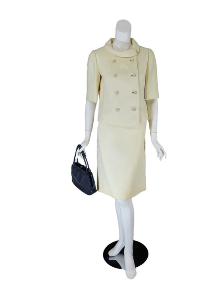 60s Skirt Suit in Cream - on Delphine