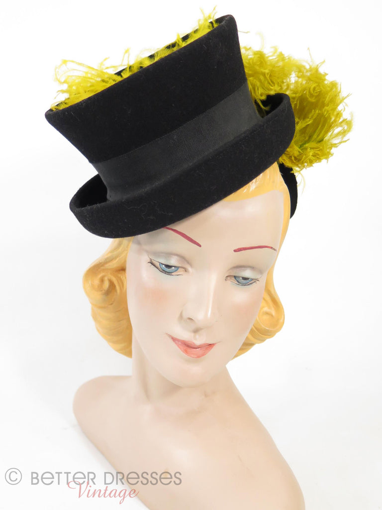 30s/40s Tilt Mini Top Hat - on Betty