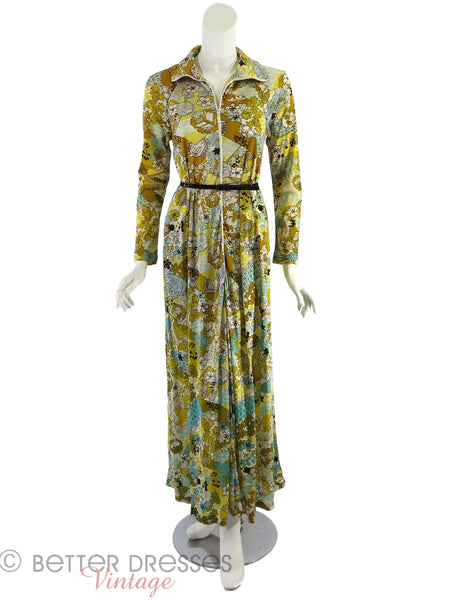 60s/70s Psychedelic Maxi - belted