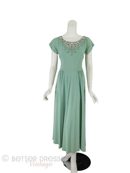 40s/50s Seafoam Gown - front full view