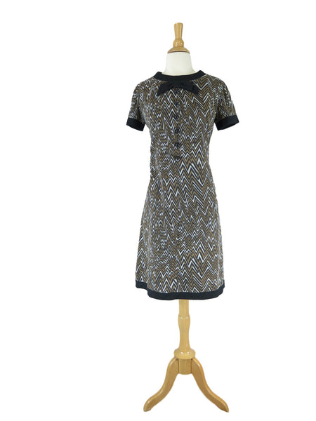 60s Graphic Shift Dress - front