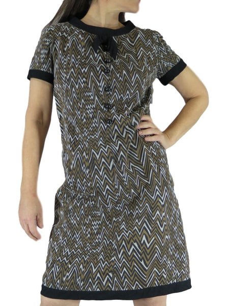 60s Graphic Shift Dress - on a person
