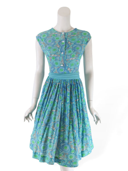 60s Nylon Shirtwaist Dress