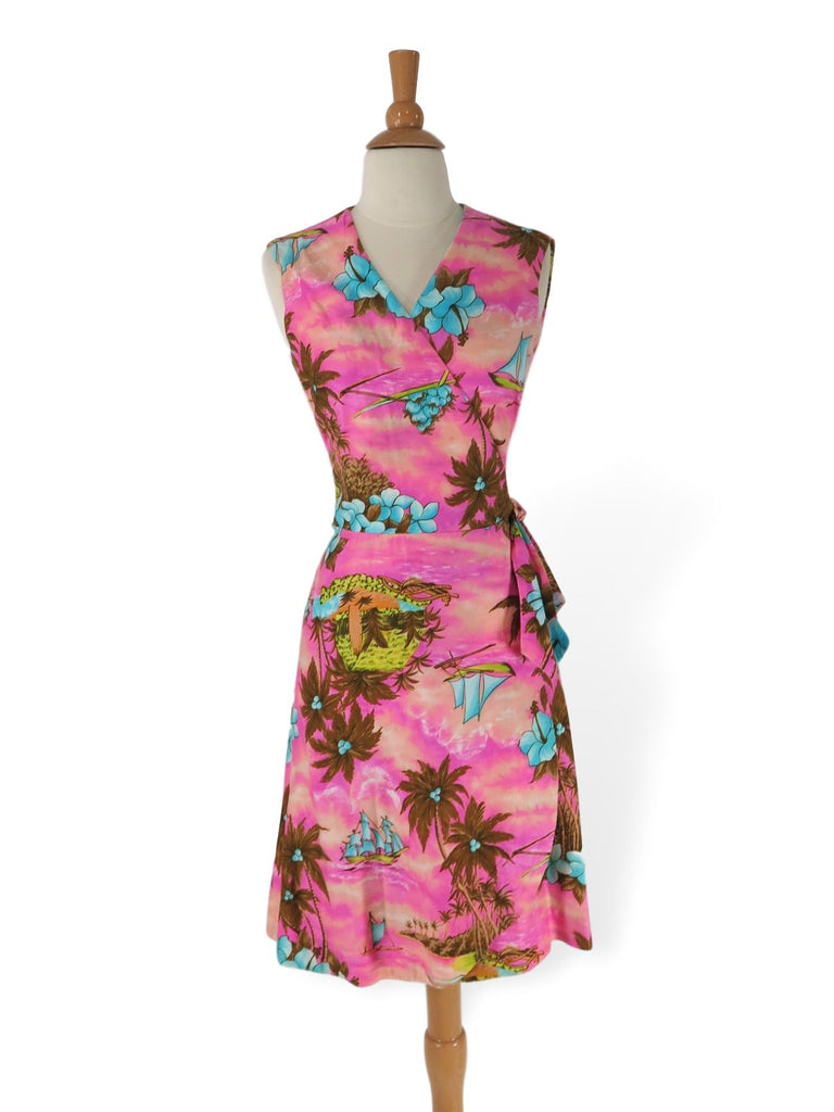 60s/70s Hawaiian Sarong Dress
