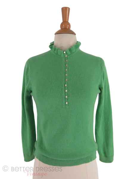 50s Green Cashmere Sweater