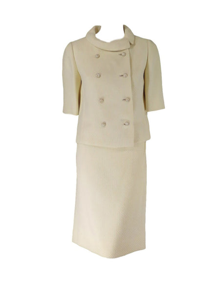 60s Skirt Suit in Cream