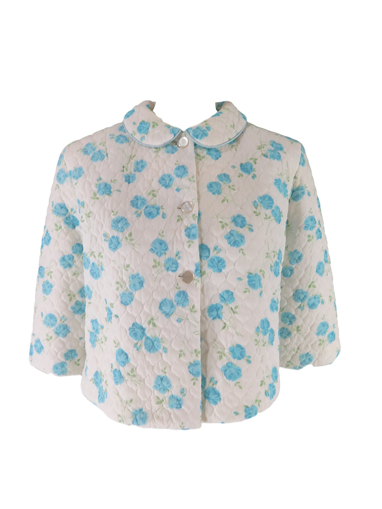 50s/60s Blue Roses Bed Jacket