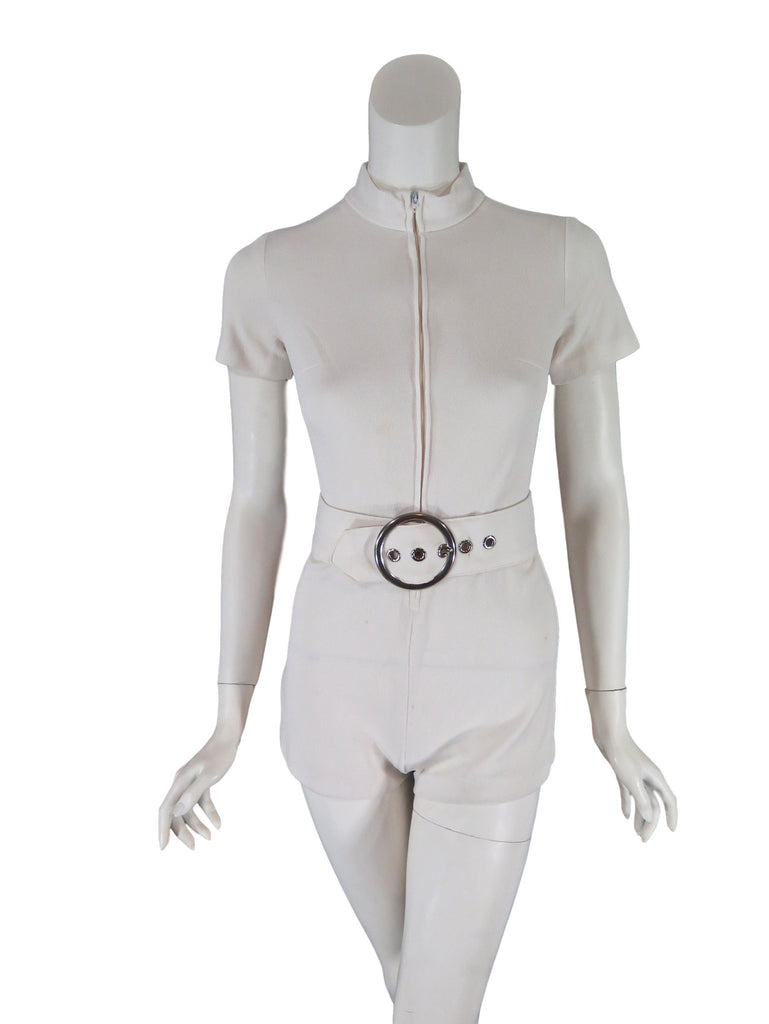 60s romper - front view zipped