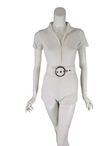 60s romper - front view, unzipped