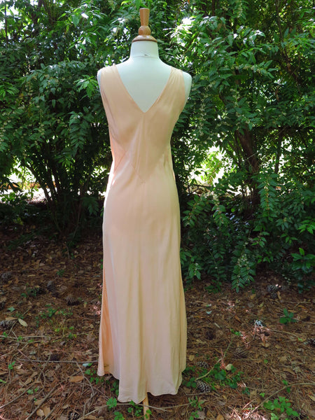 30s Yolande Peach Negligee - back