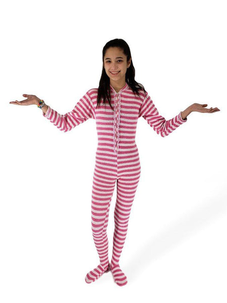60s/70s Footie Pajamas - on a real person