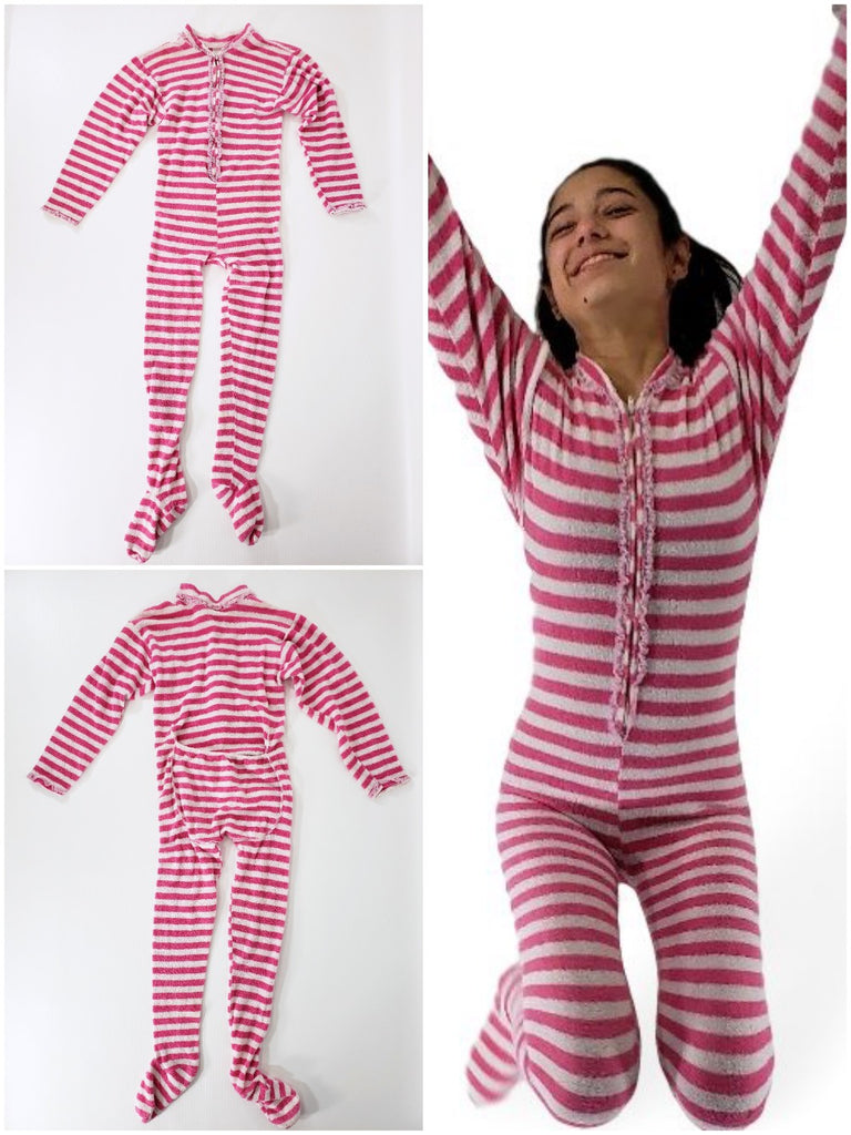 60s/70s Stretch Terry Footy Pajamas
