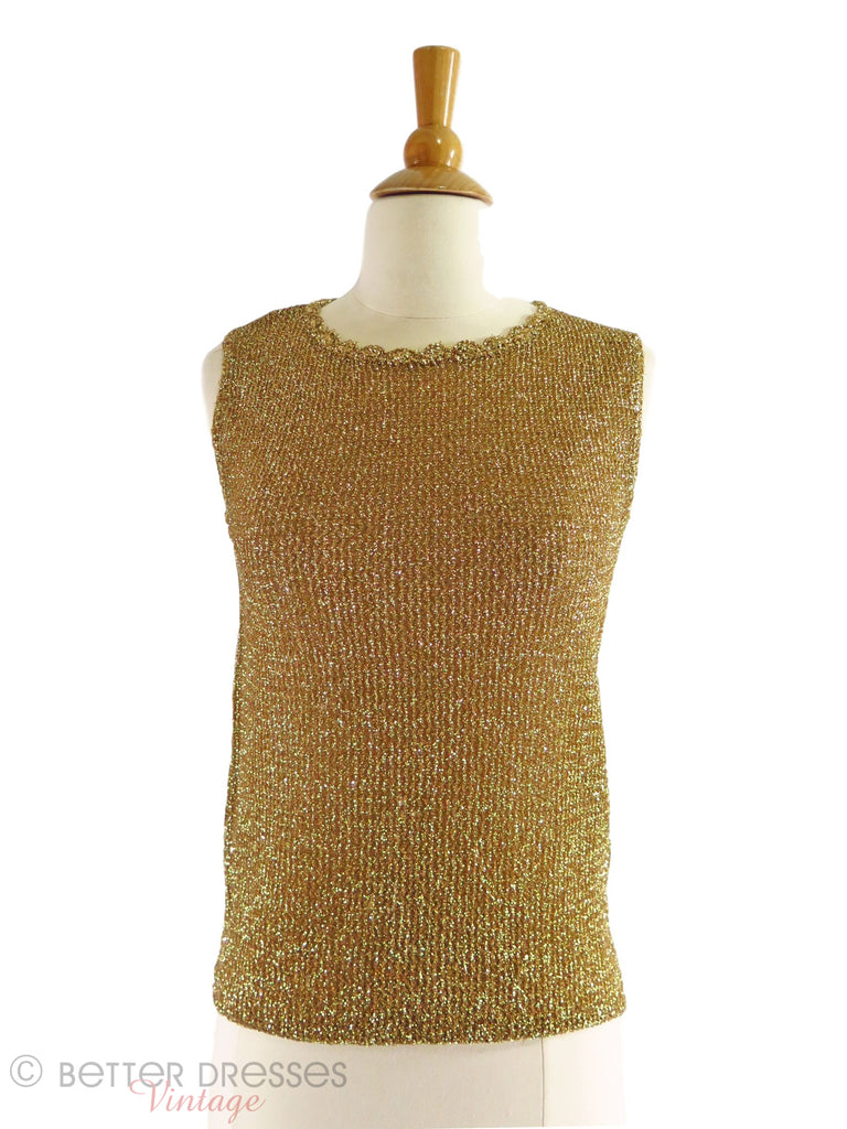 60s Gold Shell Sweater