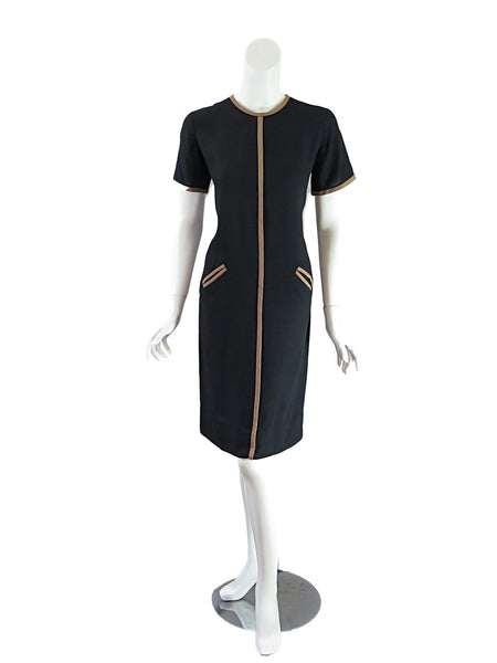 50s/60s Shift Dress - full front view