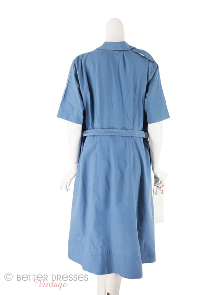 WWII Red Cross Uniform - back, unclipped from mannequin