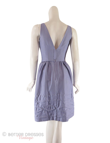 50s/60s Purple Dress - Back