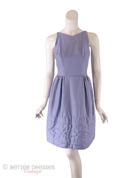 50s/60s Lavender Party Dress - Front