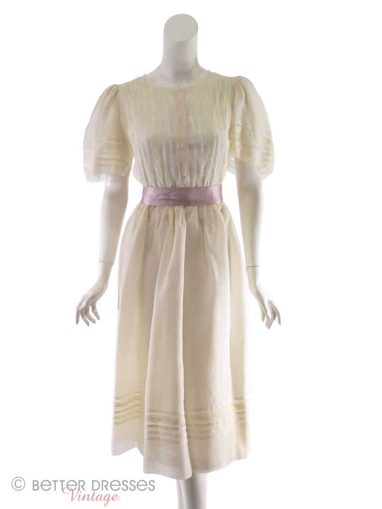 30s or 40s Organdy Dress