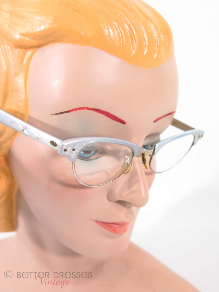 50s Aluminum Cat Eye Eyeglasses