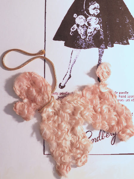 Vintage poodle applique