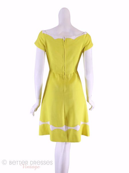 60s Yellow Dress - sm, med