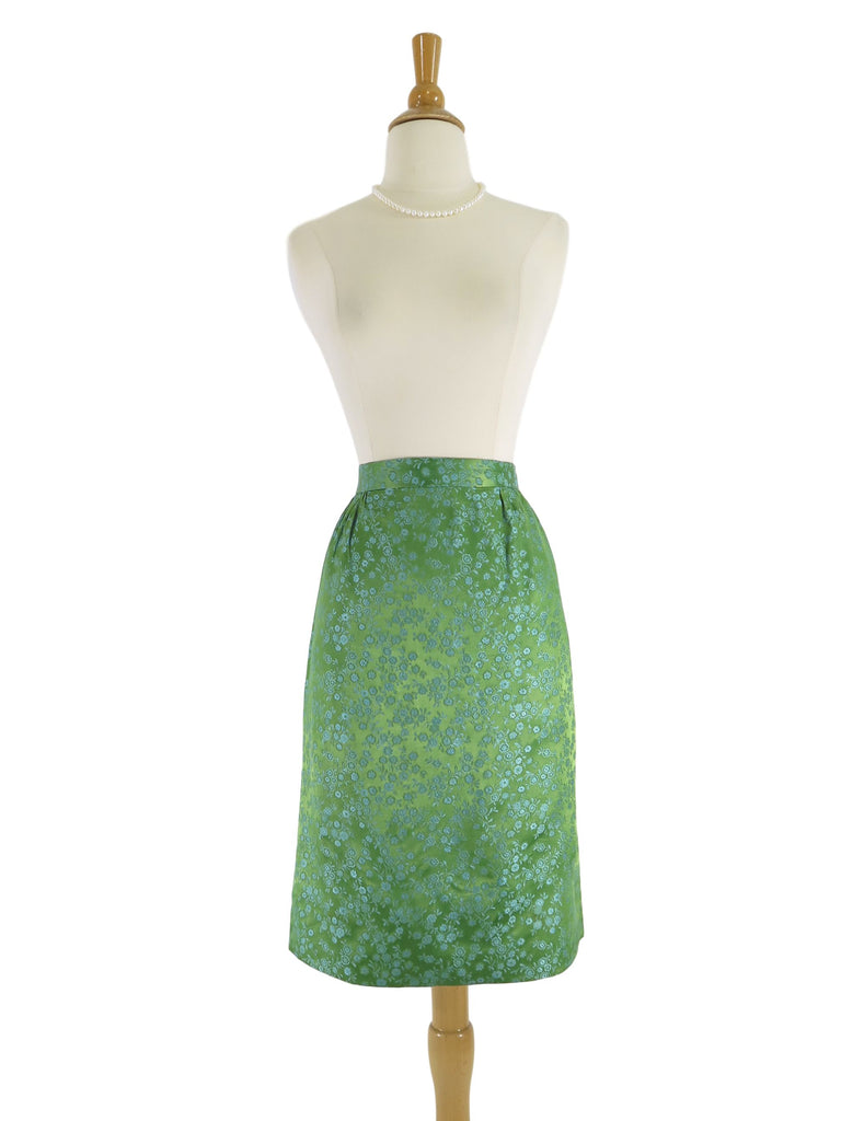 50s Satin Brocade Skirt