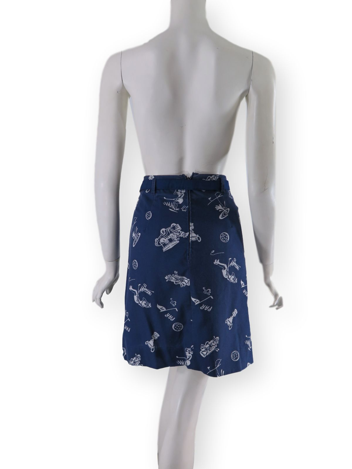 2ece4f8b Vintage Whimsicals Golf Skirt with Attached Shorts shorts revealed 60s/70s  Golf Skirt back view ...