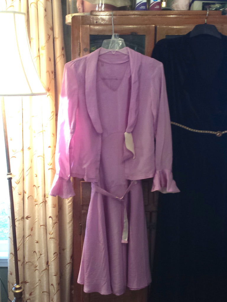 20s mauve or lavender dress set