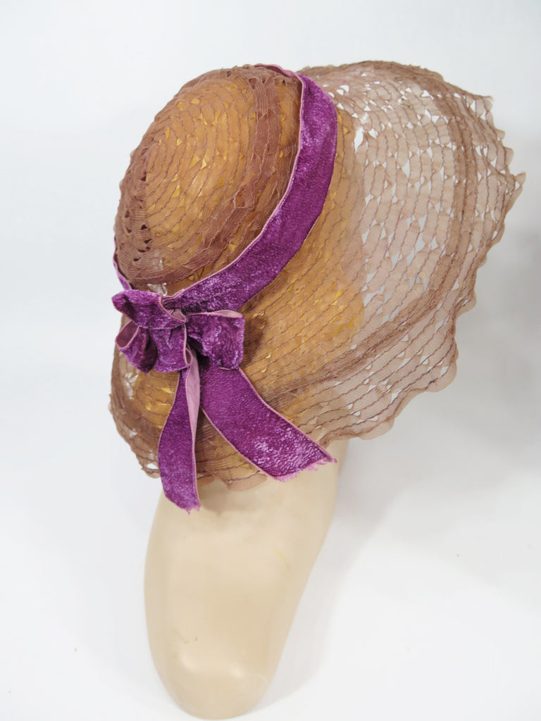 30s sun hat - back view