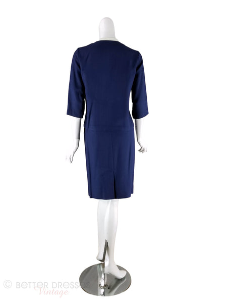 1960s Skirt Suit Back View