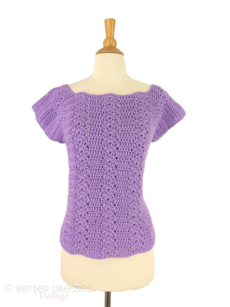60s Crochet Blouse