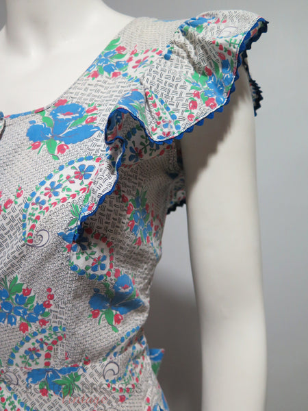 30s house dress detail