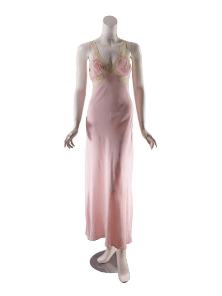30s or 40s rayon nightgown