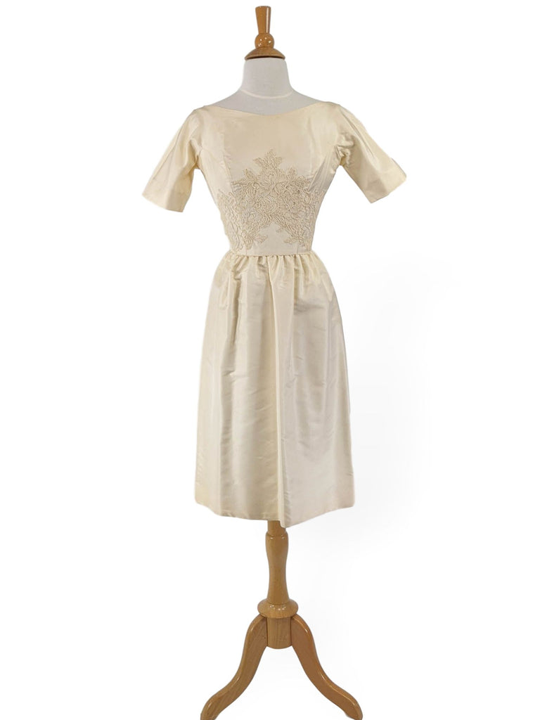 50s short wedding dress