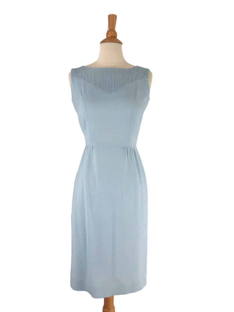 50s/60s Light Blue Sleeveless dress